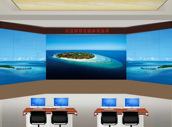 三星液晶屏2行X2列大屏幕拼接显示